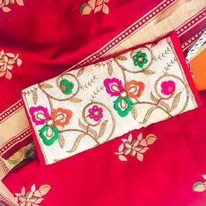 Indian Cream Handmade Wallet